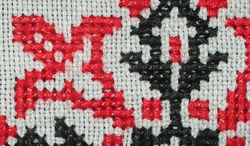 Counted cross-stitch on even-weave fabric