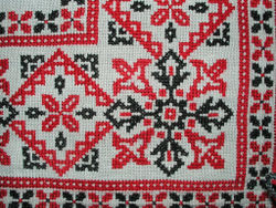Cross-stitch embroidery, Hungary, mid-20th century