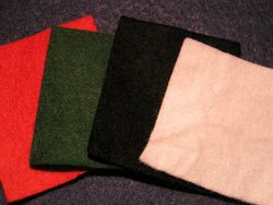 A selection of felt cloth.