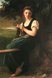 The Knitting Girl by William-Adolphe Bouguereau, 1869