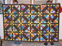 An example of a patchwork quilt.