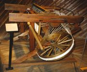 A Spinning Jenny, spinning machine which initiated the Industrial Revolution.